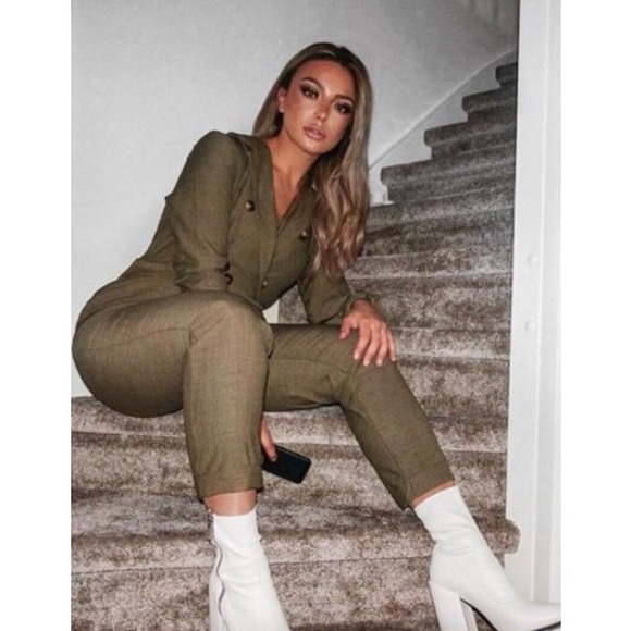 Other - Khaki blazer jumpsuit